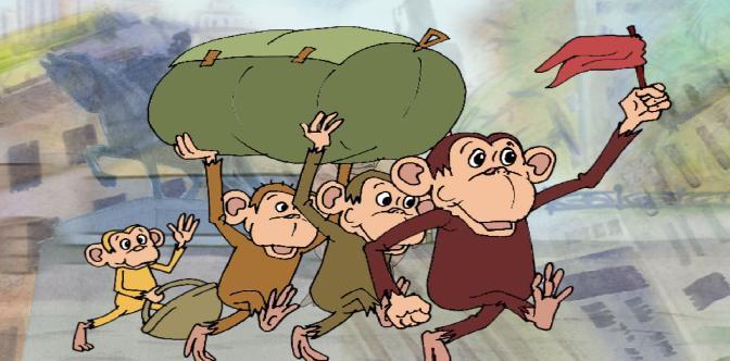 Смотреть Четыре обезьяны