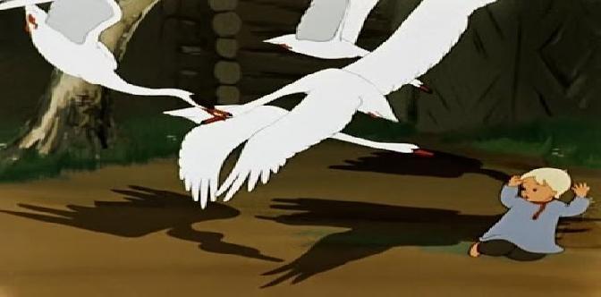 Смотреть Гуси-лебеди. Советский мультфильм. Русская народная сказка.