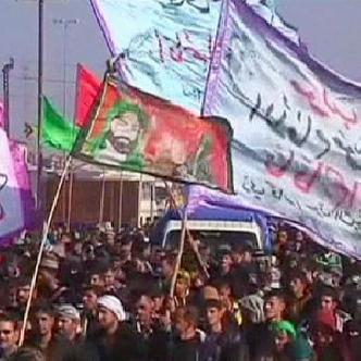 Смотреть Ирак: рекордное число паломников прибыло в Кербелу на могилу имама Хусейна