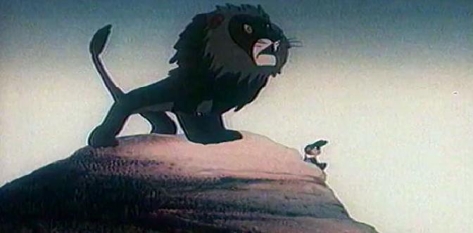 Смотреть Лев и заяц