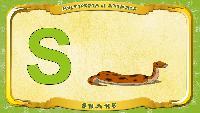 Мультипедия животных Английский алфавит Английский алфавит - Letter S - Snake