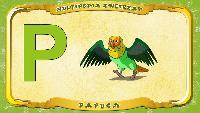Мультипедия животных Польский алфавит Польский алфавит - Litera P - Papuga