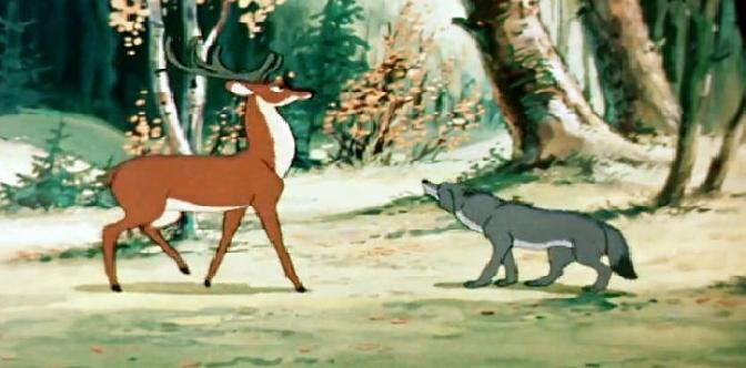 Смотреть Олень и волк