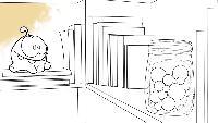 Раскраска Сезон 1 Ам Ням и банка с леденцами