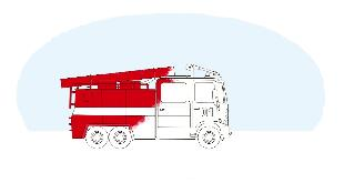 Раскраска Сезон-1 Пожарная машина, полицейская машина, скорая помощь