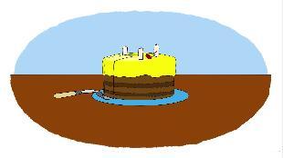 Раскраска Сезон-1 Торт, подарки, сок