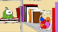 Раскраски Раскраски Мультик - раскраска - Учим цвета - Ам Ням и банка с леденцами
