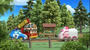 Робокар Поли и его друзья Сезон 2 Робокар Поли Сезон 2 Серия 39 Битва в лесу часть 1-я