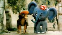 Слоненок-турист