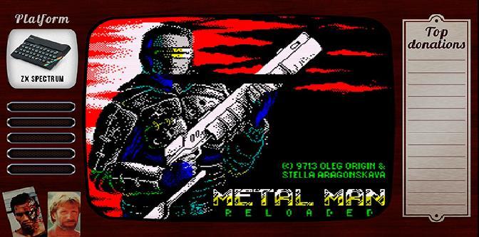 Смотреть Старые старые игры. Выпуск 2. Metal man reloaded на zx spectrum