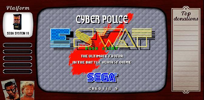Смотреть Старые старые игры. Выпуск 7. E-SWAT Cyber Polic на Sega System 16