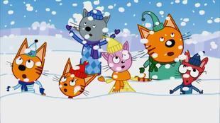 Три кота 1 сезон 11 серия. Снежные скульптуры
