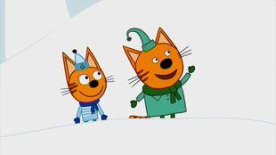 Три кота 1 сезон 23 серия. Снежные горки