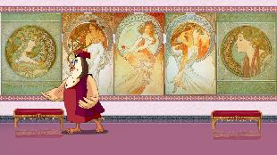 Уроки тетушки совы Всемирная картинная галерея Всемирная картинная галерея - Альфонс Муха