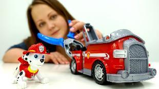 Видео для детей: Щенячий Патруль. Маршал (мультик #ЩенячийПатруль) и Пожарная Машина